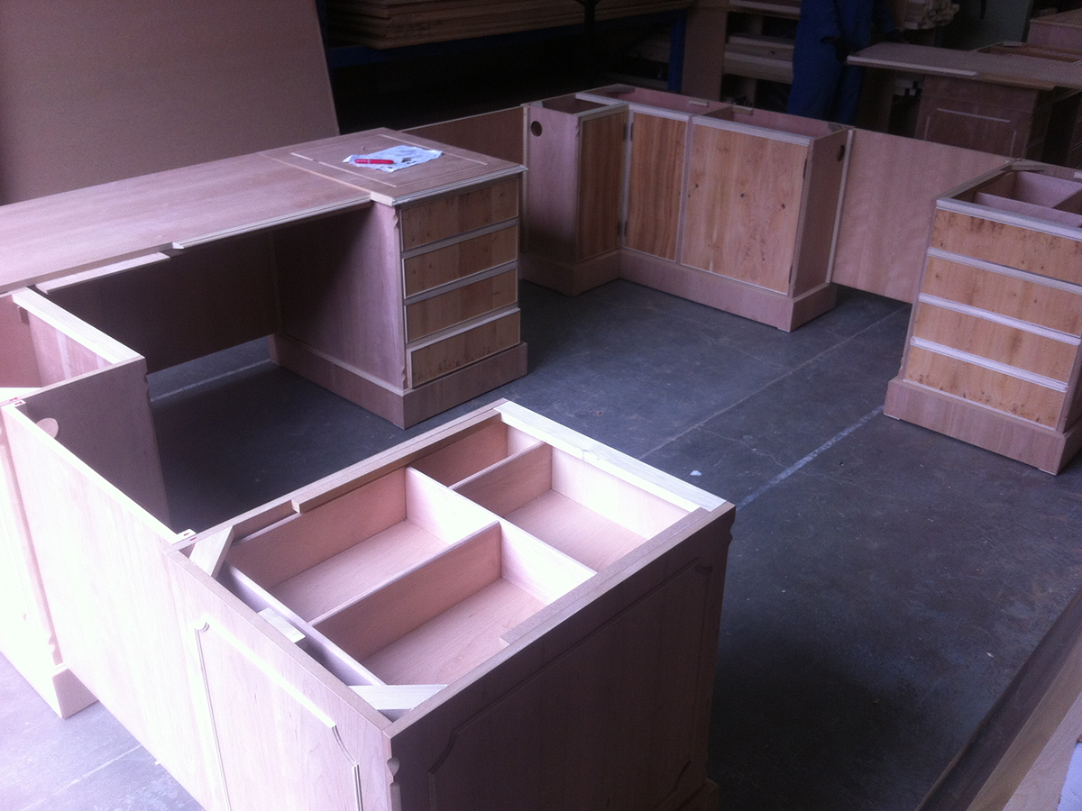Manufacturing of bespoke yew desk