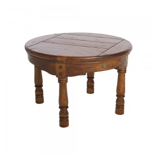 Round Fruit Wood Coffee Table