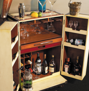 Vintage Polo Club cocktail home bar