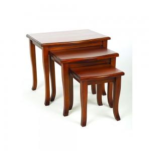 French Mahogany Nest of Tables