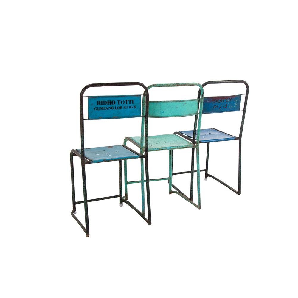 Inadam Furniture Metal Tube Framed Stacking Chair From