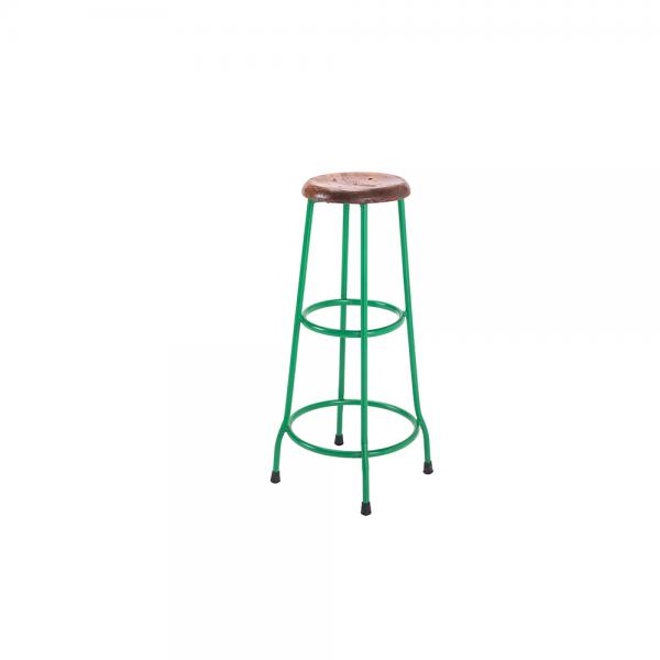 Metal and Wood Bar Stool A