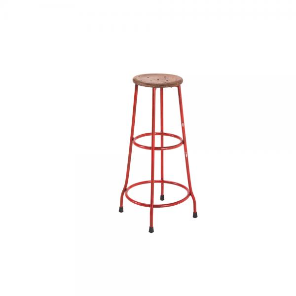 Metal and Wood Bar Stool C