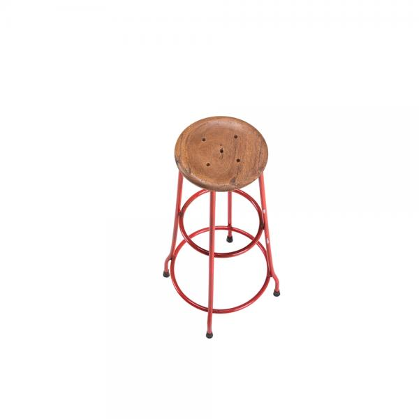 Metal and Wood Bar Stool D