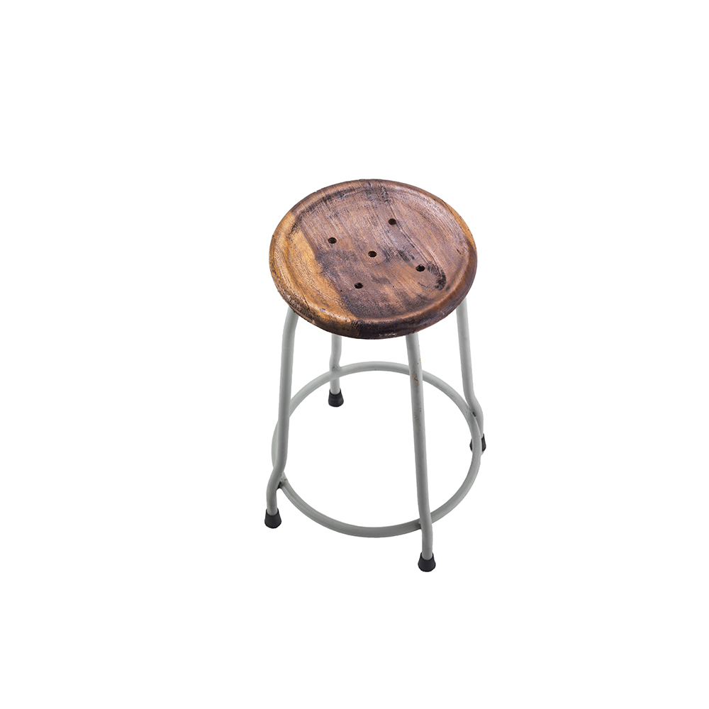 Inadam Furniture Small Metal And Wood Bar Stools