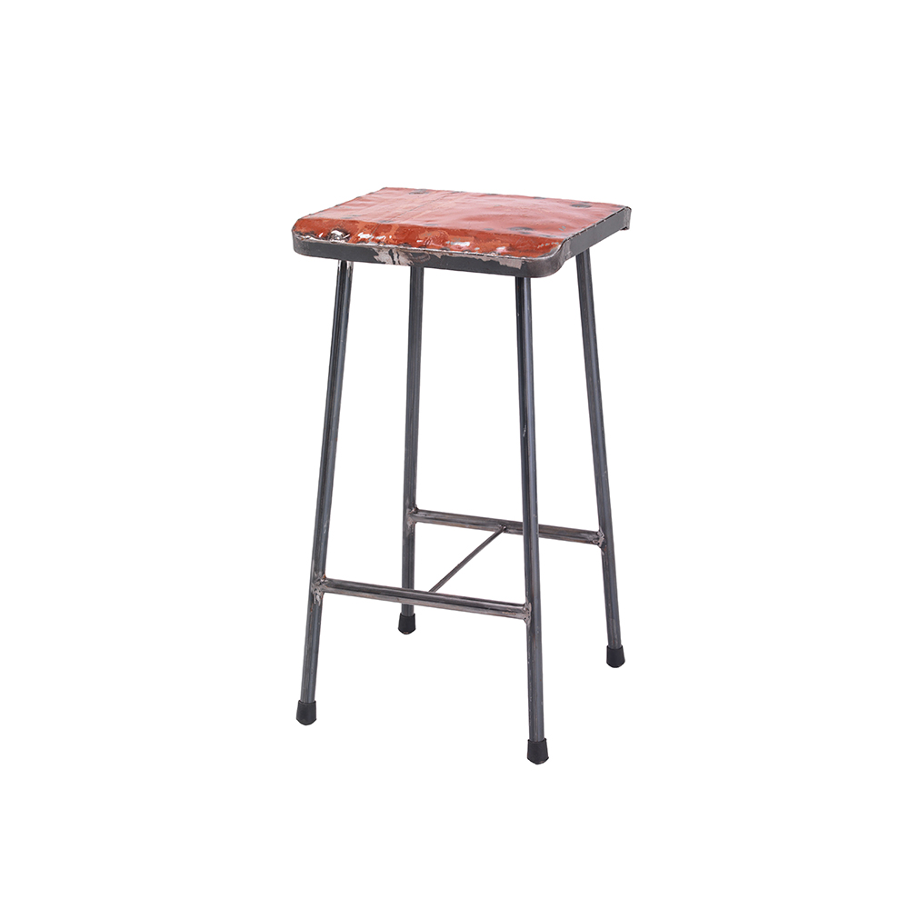 Inadam Furniture Square Metal Bar Stools Industrial Village Collection