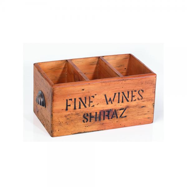 3 Hole Shiraz Wine Box