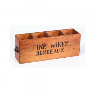 4 Hole Bordeaux Wine Box
