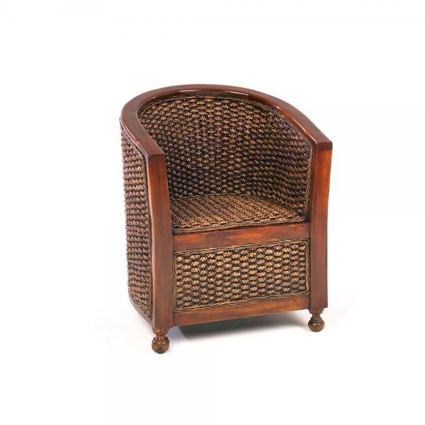 Tub Chair with Wooden Arms