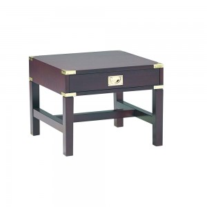 Military 1 Drawer Lamp Table Mah