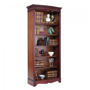 Tall Bow Front Bookcase