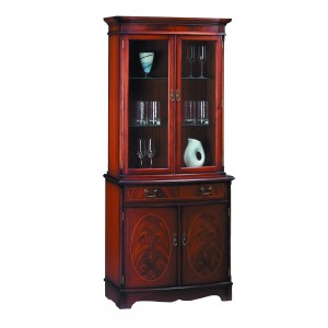 Bow Front Display Bookcase