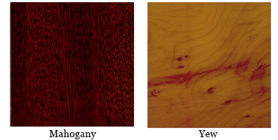 Mahogany or Yew finish for Desk