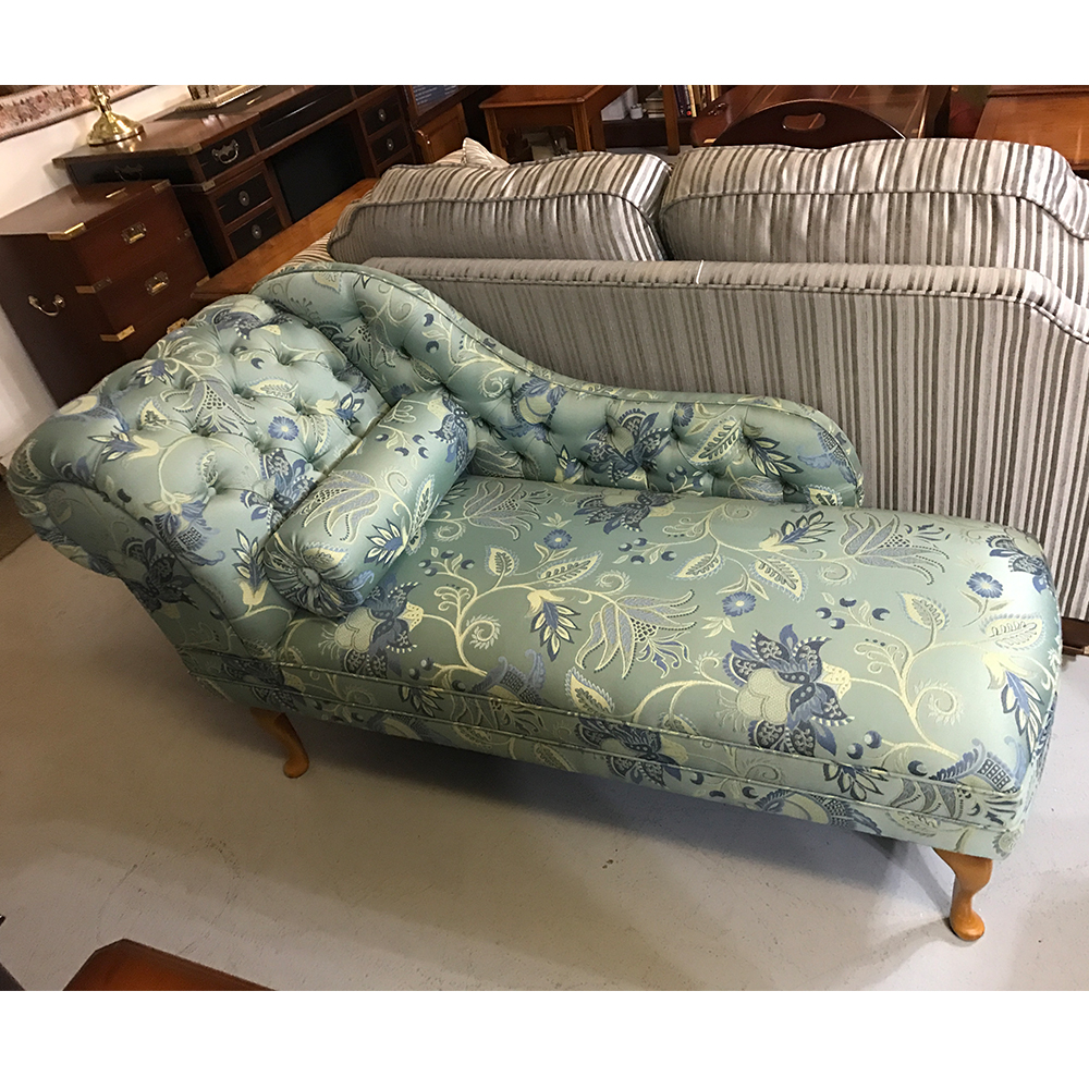 Inadam furniture patterned chaise lounge from our for Chaise lounge clearance