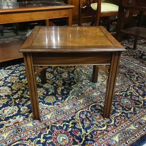 Chippendale Lamp Table Burr Walnut