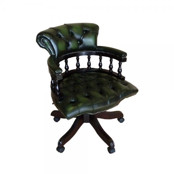 Green Leather Captains Chair Uk The Captain s Chair Green Leather