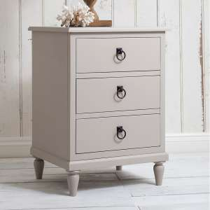 Bedside Cabinet in Soft Grey