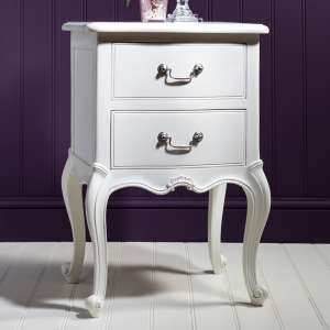 Bedside Chest in White Chalk