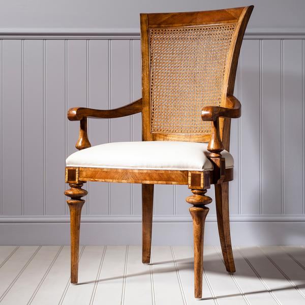 Dining Cane Back Arm Chair
