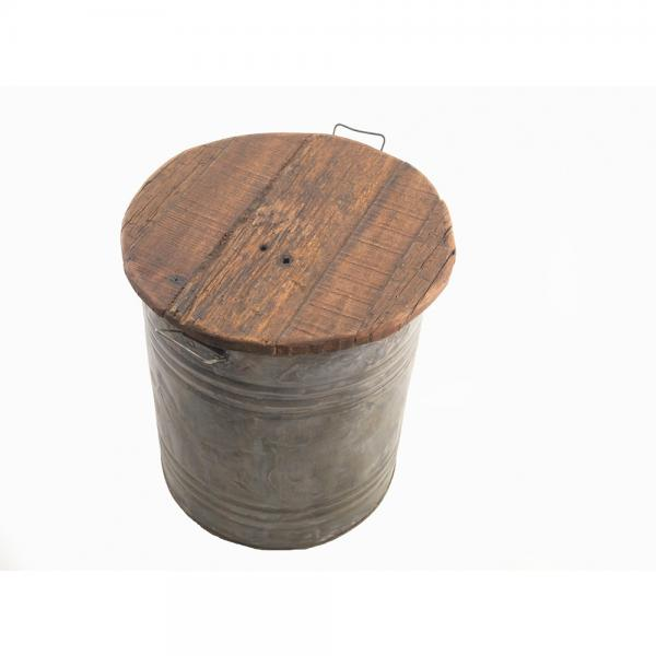 Metal Storage Stool