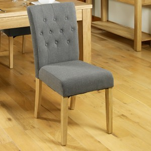 Upholstered Grey Dining Chair