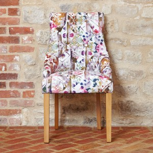 Oak Accent Upholstered Chair
