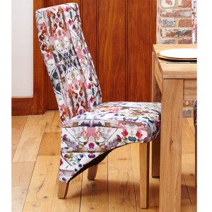 Upholstered Dining Chair in Floral