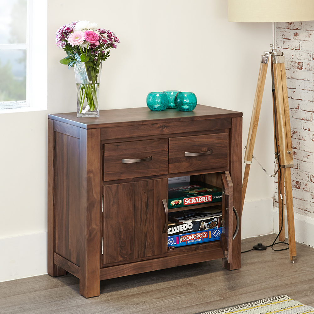 Inadam Furniture Small Sideboard Modern Living Solid Walnut Collection