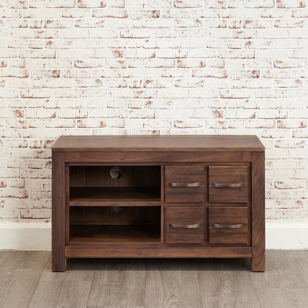 Walnut 4 Drawer Tv Cabinet