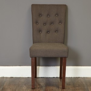 Flare Back Upholstered Chair In Grey
