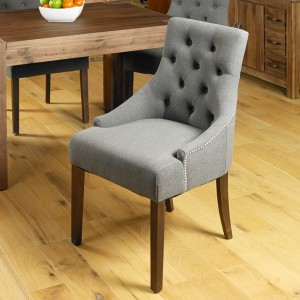 Upholstered Chair in Grey
