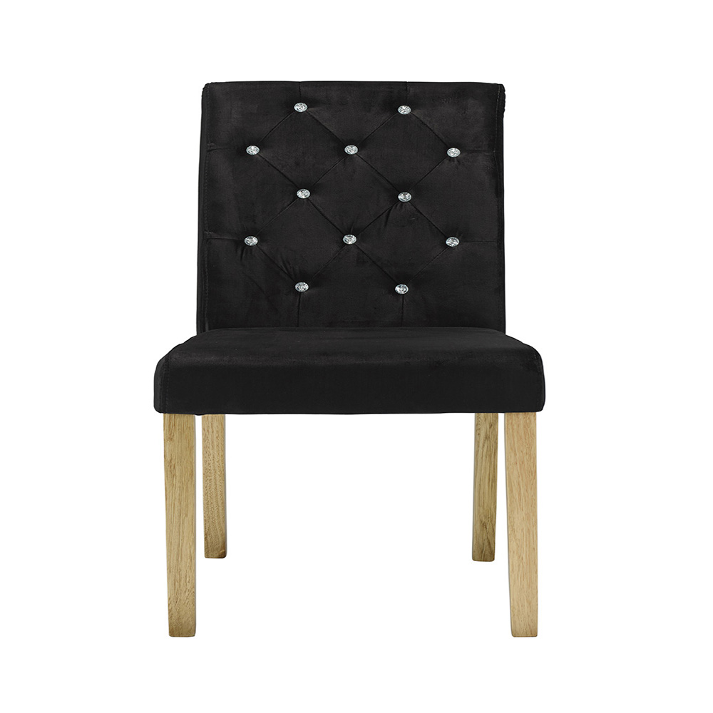 Inadam Furniture Pisa Chairs Pack Of 2 Black Silver