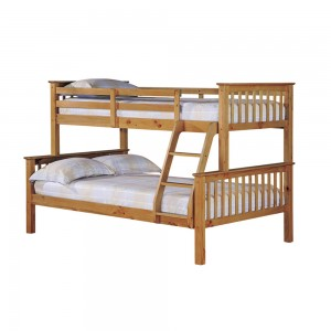 Trio Bunk Bed Pine