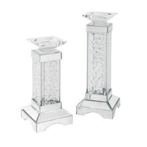 Candle holder mirrored furniture