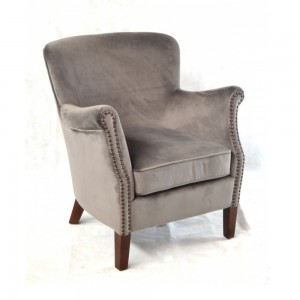 Metallic Fabric Armchair