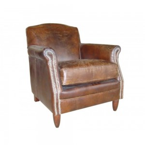 Vintage Leather Studded Chair