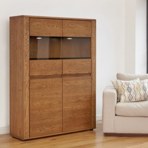 Dark Oak Low Display Cabinet