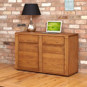 Dark Oak Hideaway/Storage Desk/Sideboard