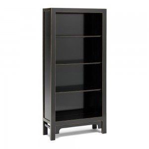 Large Black Bookcase - Oriental Collection