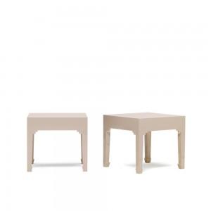 Grey Pair of Lamp Tables