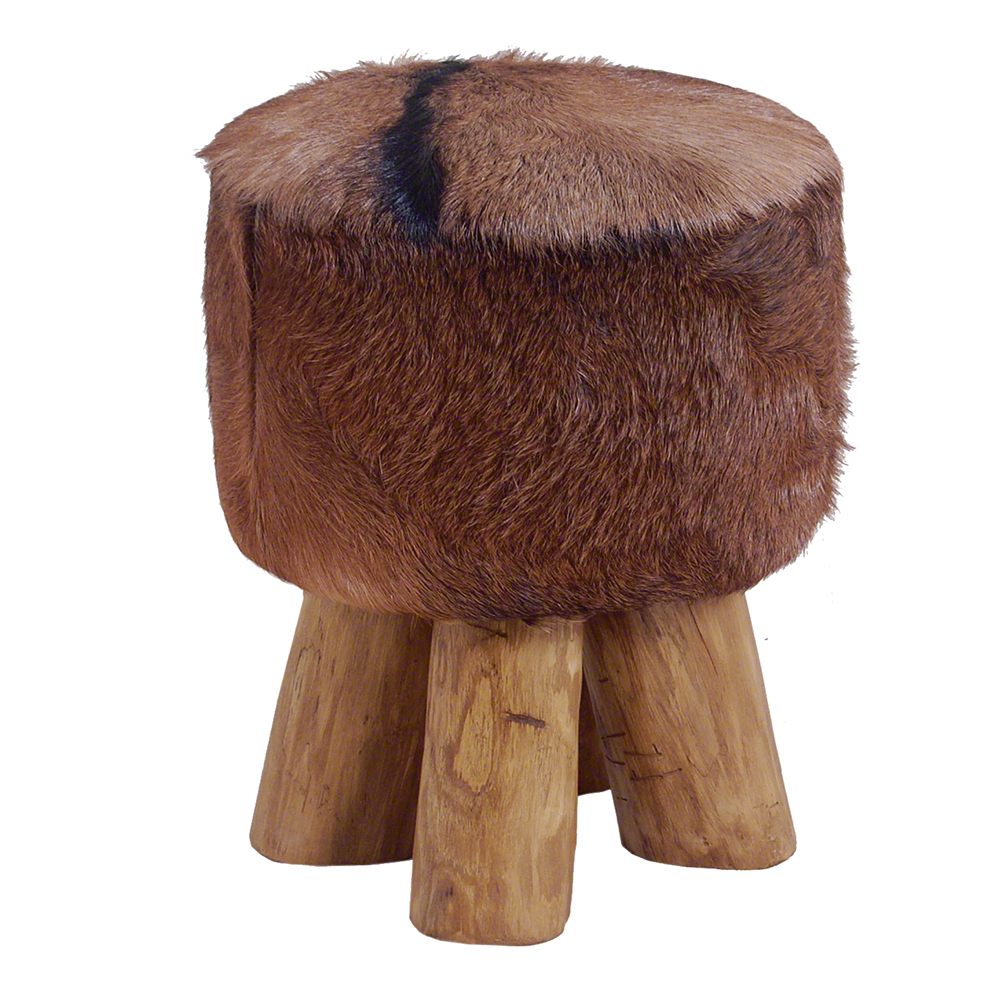 Inadam Furniture Round Stool From The Cow Hide