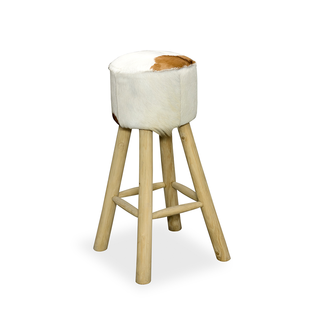 Inadam Furniture Round Tall Bar Stool From The Cow