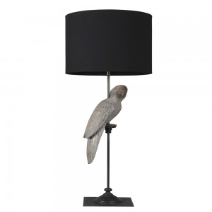 Grey Parrot Table Lamp