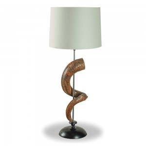 Wooden Horn Table Lamp