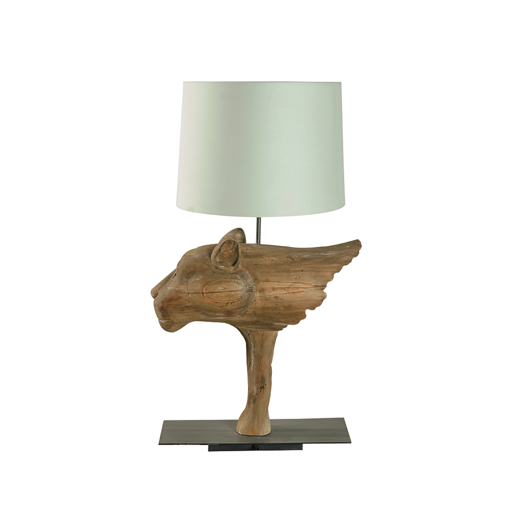 Inadam furniture wooden dog table lamp from the animal lamp wooden dog table lamp geotapseo Gallery
