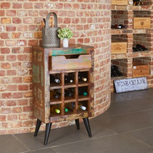 Wine Rack Lamp Tables
