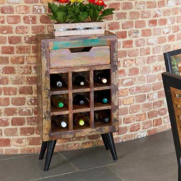 Wine Rack Lamp Tables