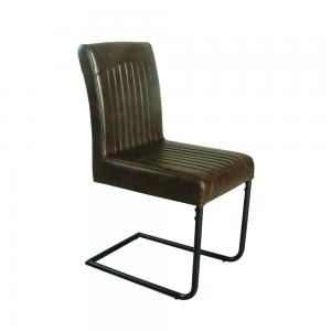 Cantilever Leather Chair Chesnut