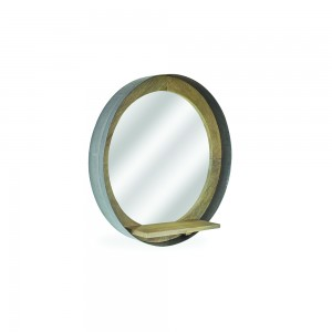 Circular Mirror - Industrial Retro Collection