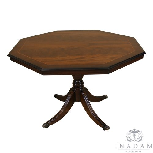 121cm Octagonal Breakfast Games Table Mahogany Yew Reproduction Furniture